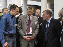 """Vitalij Rodnov, asociacijos """"Infobalt"""" vykdomasis direktorius Edmundas Žvirblis, Ministras Pirmininkas Gediminas Kirkilas"""