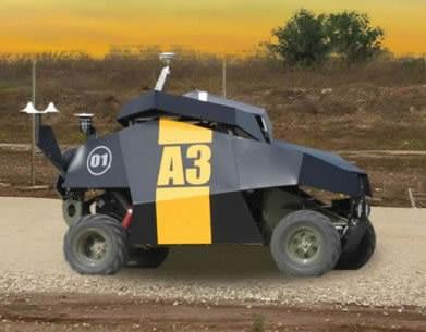 """Izraelis pristatė karinį robotą-patrulį """"Guardium"""""""