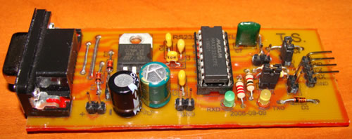 RS232 - TTL signalų konverteris