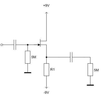 8 pav. Tranzistorinio kartotuvo schema