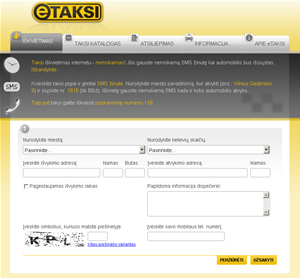 Taksi pigiau – SMS žinute arba internetu