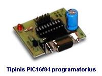 Tipinis PIC16f84 programatorius