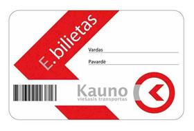Kaune plečiamos elektroninio bilieto naudojimo galimybės