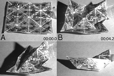 Programuojami origami lakštai