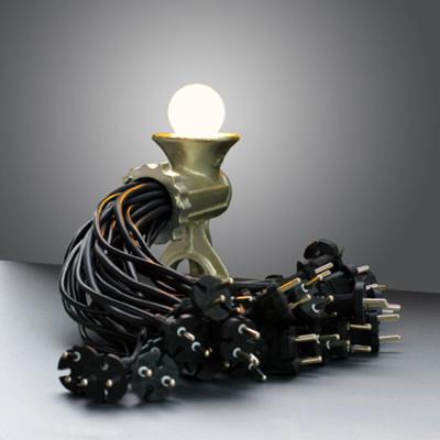 Šią unikalią lempą sukūrė menininkas Reima Honkasalo iš Suomijos (tokiekitokie.lt foto)