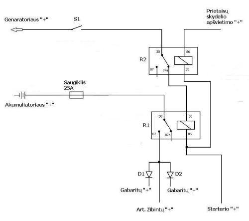 Automatinių žibintų modulis