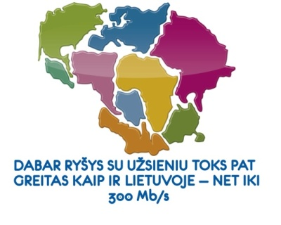 Ryšys su užsieniu nuo šiol toks pat greitas, kaip Lietuvoje – iki 300 Mb/s
