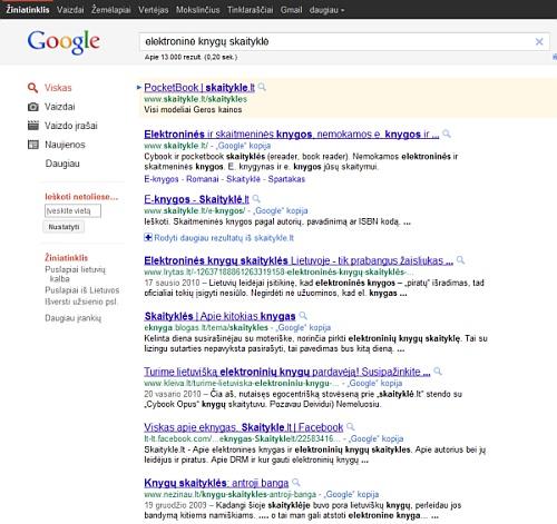 Interneto svetainės struktūra paieškos sistemų atžvilgiu