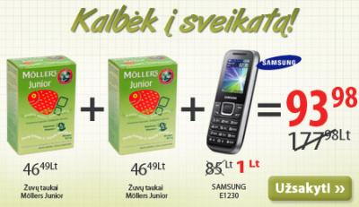 """""""Samsung"""" telefonas tik už 1 Lt?"""
