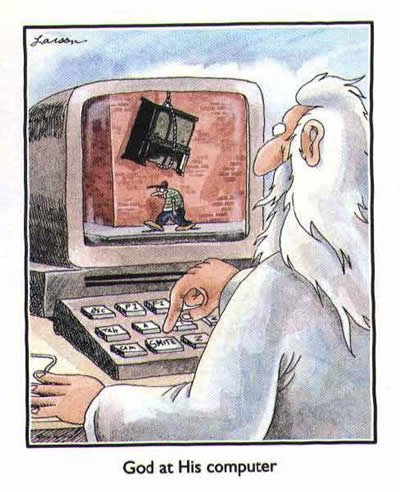 Dievas irgi dirba kompiuteriu