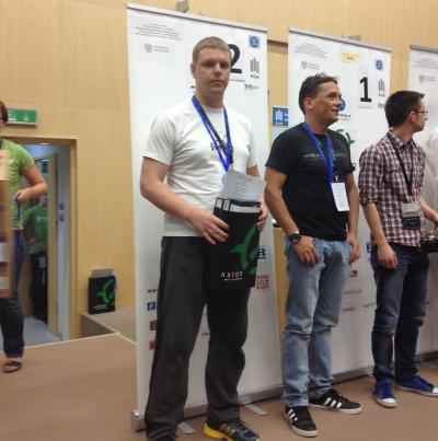 Klaipėdos universiteto robotai Lenkijoje iškovojo antrąsias vietas