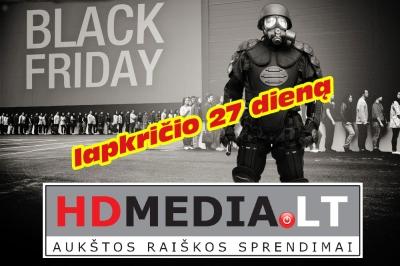 """""""Juodasis penktadienis"""" el. parduotuvėje  HDMEDIA.LT"""
