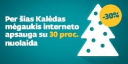 Per šias Kalėdas mėgaukis interneto apsauga su 30 proc. nuolaida