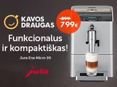 """Kavos aparatas """"Jura Ena Micro 90"""" – už dar geresnę kainą!"""