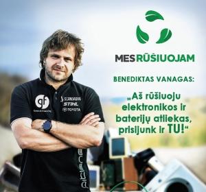 """Lenktynininkas Benediktas Vanagas: """"Rūšiavimas – madingas"""""""