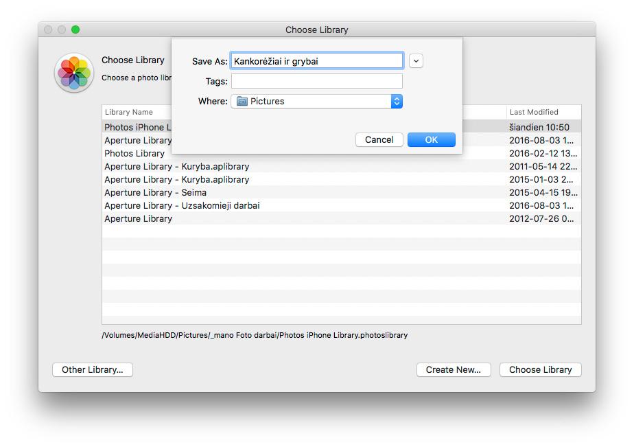 """Kaip naudoti kelias nuotraukų bibliotekas """"Photos"""" aplikacijoje """"Mac"""""""