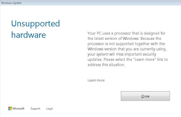 """Naujų procesorių ir senesnių """"Windows"""" versijų savininkams """"Microsoft"""" pradėjo blokuoti atnaujinimus"""