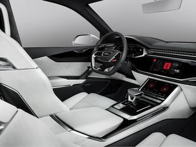 """""""Audi"""" pristatė integruotą """"Android"""" operacinę sistemą, skirtą """"Audi Q8 sport concept"""" modeliui"""