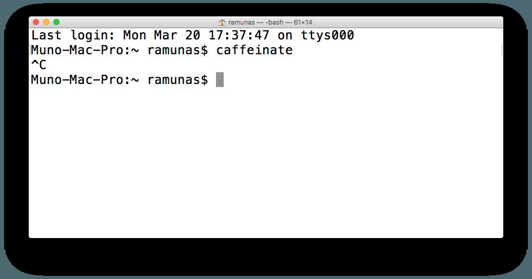"""Kaip neleisti """"Mac"""" kompiuteriui užmigti pasitelkus """"Terminal"""""""