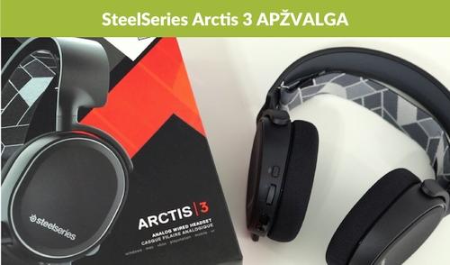 """""""SteelSeries Arctis 3"""" apžvalga"""