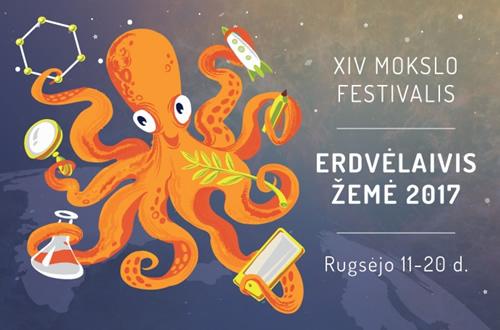 """Mokslo festivalis """"Erdvėlaivis Žemė"""":  mokslo pasaulio pulsas"""
