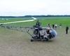 """Lietuviškas sraigtasparnis """"Sidabrinis titanas VR555"""" iš arti"""