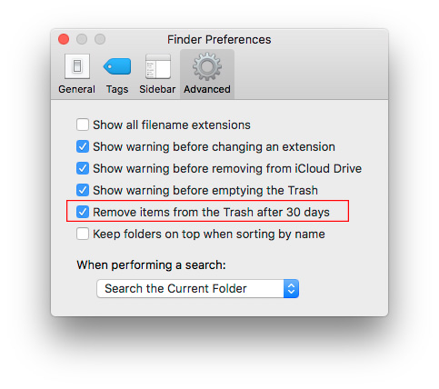 """Kaip """"macOS"""" nurodyti periodiškai ištuštinti šiukšlinę"""