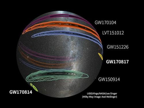 LIGO ir Virgo pirmą kartą aptiko neutroninių bangų sukurtas gravitacines bangas