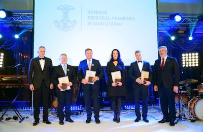 Vilniaus prekybos, pramonės ir amatų rūmų šventėje – tradiciniai apdovanojimai geriausioms įmonėms ir mokymo įstaigoms