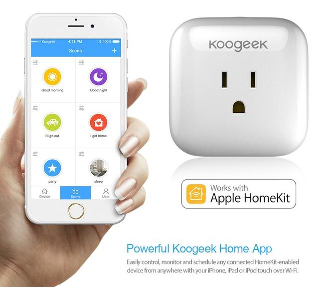 """Nuolaida išmaniam elektros lizdui iš Kinijos, valdomam per """"Apple HomeKit"""""""