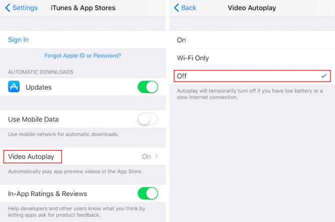 """Kaip """"iOS 11"""" uždrausti """"App Store"""" automatiškai pasileidžiančius vaizdo įrašus"""