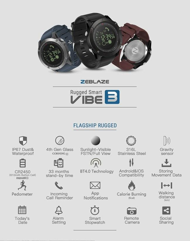 """Nuolaidos """"Zeblaze THOR S"""" ir """"Zeblaze Vibe 3"""" išmaniesiems laikrodžiams"""