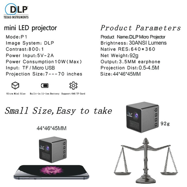 """Solidi akcija """"UNIC P1+"""" nešiojamam mini projektoriui!"""