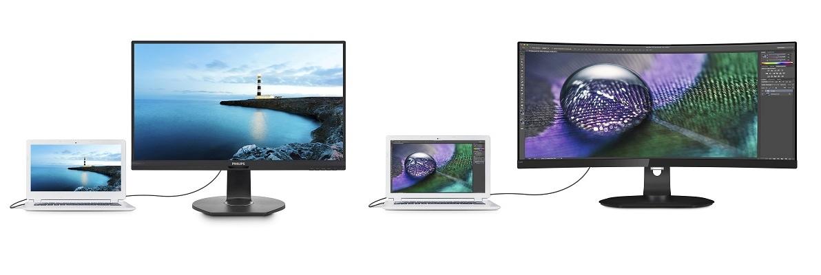 """""""Philips"""" monitoriai su USB-C išplėstųjų jungčių sprendimu užima centrinę vietą  šiandienos skaitmeninėje darbo aplinkoje"""