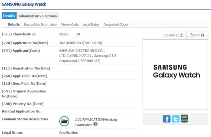 """""""Samsung"""" naujasis išmanus laikrodis bus žinomas """"Galaxy Watch"""" vardu"""