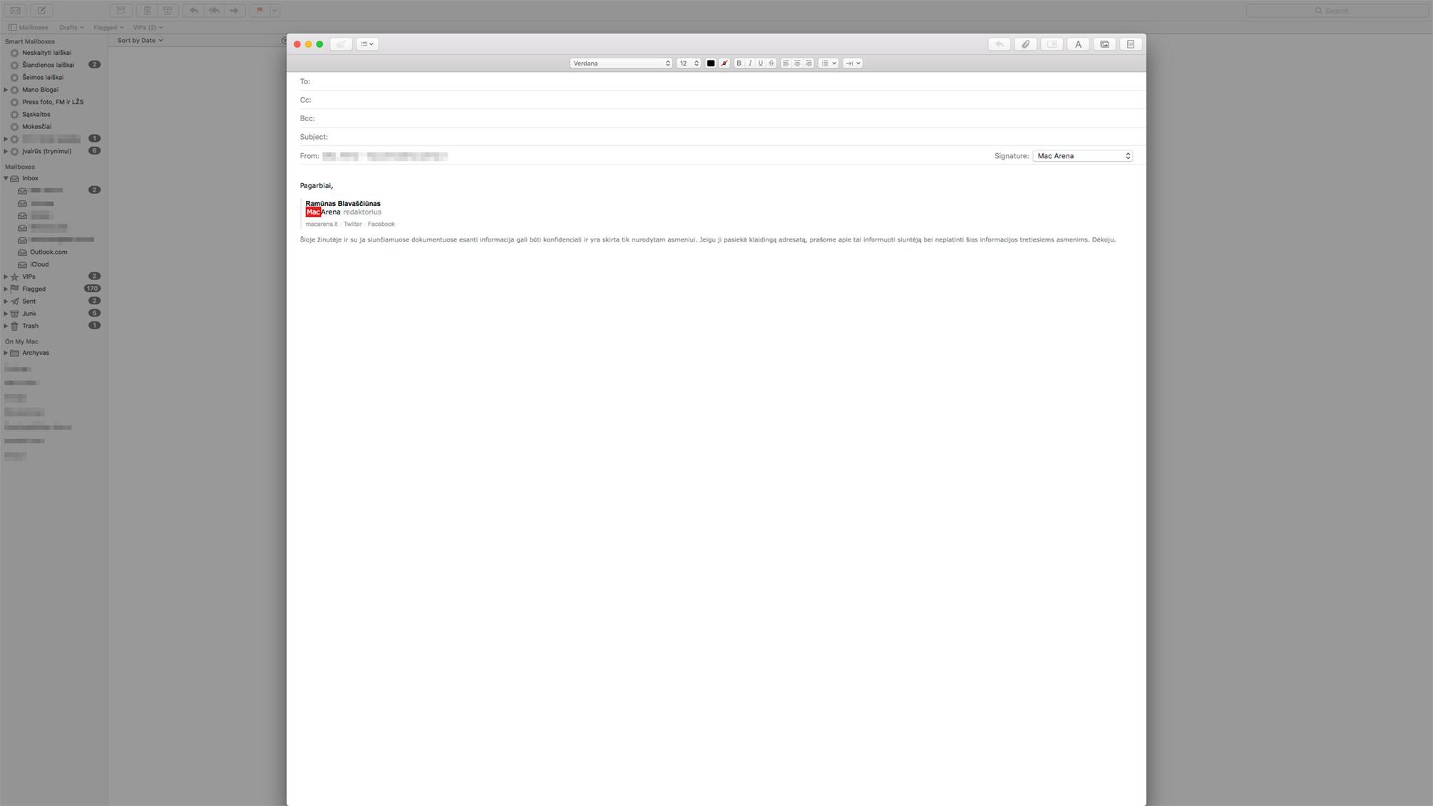"""Kaip išjungti """"Split View"""" režimą """"Mail"""" aplikacijoje"""