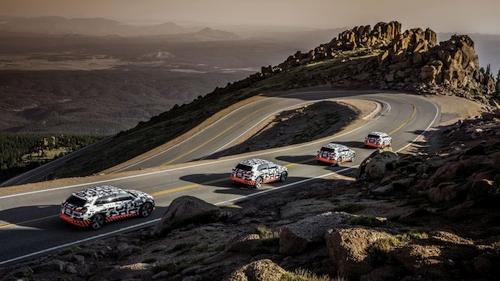 """""""Audi e-tron"""" elektromobilis išbandytas kalnų keliuose"""