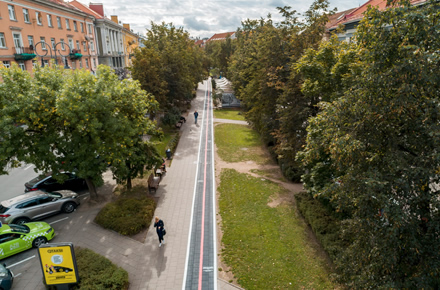 """Sostinės Vokiečių gatvėje – unikalus takas """"mobiliems"""""""