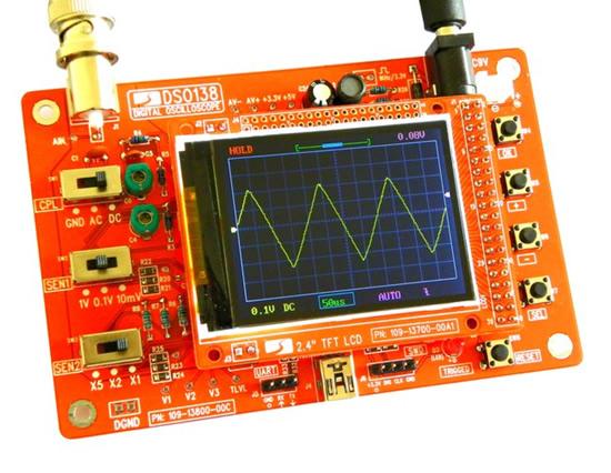 """DSO138"" skaitmeninis oscilografas elektronikos mėgėjams"