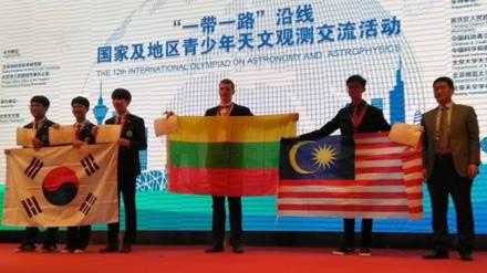 Jaunasis astronomas – Vilniaus licėjaus abiturientas – Kinijoje laimėjo bronzos medalį