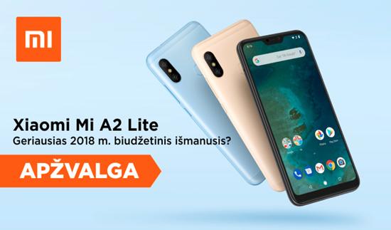 """""""Xiaomi Mi A2 Lite"""" – geriausias 2018 m. biudžetinis išmanusis?"""