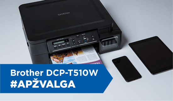 """Brother DCP-T510W"" apžvalga"