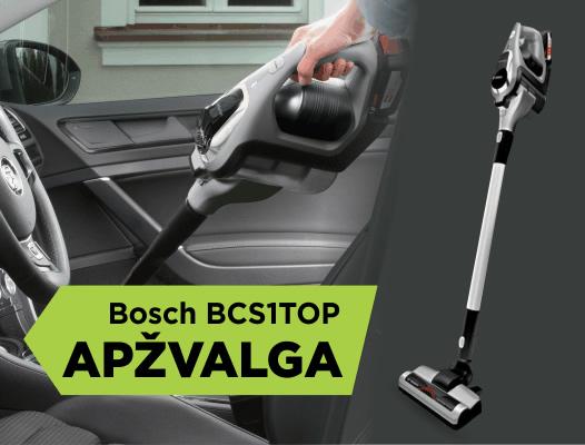 """Analogų neturintis belaidis dulkių siurblys """"Bosch BCS1TOP"""""""