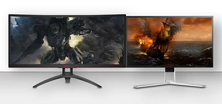 """Plačiaekranis """"AG352UCG6"""" monitorius, skirtas vaizdų laiko juostai, o """"AG271QG"""" – vaizdo peržiūrai pagrindiniame ekrane"""