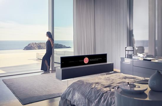 LG pristatė pirmąjį pasaulyje susivyniojantį OLED televizorių