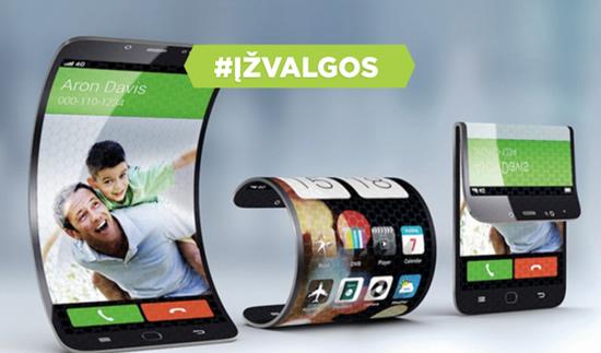 Dar daugiau kamerų ir lankstūs ekranai: kokie bus telefonai 2019 metais?