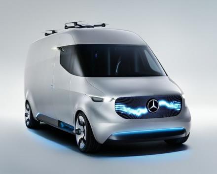 """Taip elektrinis """"Mercedes-Benz Sprinter"""" įsivaizduotas dar 2017 metais © Gamintojo nuotrauka"""