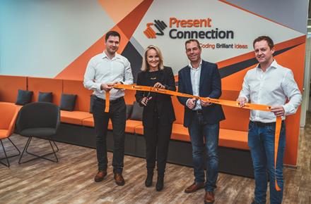 """Oficialiai atidaromas Nyderlandų IT kompanijos """"Present Connection"""" biuras Kauno doke"""