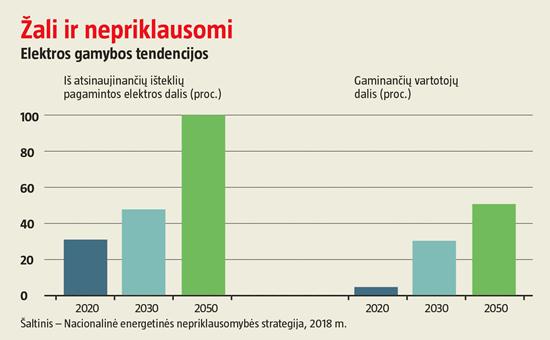 Iki 2050-ųjų pusė šalies elektros vartotojų turės tapti ir gamintojais