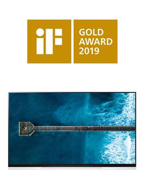 """LG OLED televizoriai parsiveža """"iF"""" aukso apdovanojimą už dizaino meistriškumą"""